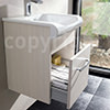 Bauhaus Essence Glacier 400mm Single Drawer Unit And Basin small Image 4