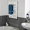 Lauren 445 x 650mm White Straight Heated Towel Rail small Image 4
