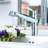 Grohe Eurodisc Low Spout Cosmopolitan Tap With Pull Out Spray Chrome small Image 4