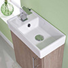 Lauren Minimalist 400mm Light Oak Wall Hung Cabinet And Basin small Image 4