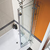 Beo Square Left Hand Showerbath 1500 x 850mm small Image 4