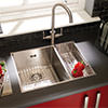 Astracast Onyx 4053 Brushed Stainless Steel Flush Inset Sink - 1.5 Bowl small Image 4