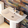 Premier Clara 650mm 1 Tap Hole Basin And Full Pedestal small Image 4
