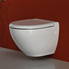 RAK Reserva Wall Hung Vitreous China White WC Pan 555mm small Image 4