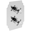 Heritage Hartlebury Recessed Thermostatic Valve With Fixed Head Kit small Image 4