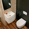 Bauhaus Stream II 510mm Wall Hung WC Pan And Soft Close Seat small Image 4