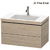 Duravit L-Cube 800mm 2 Drawer Vanity Unit With C-Bonded Basin small Image 4