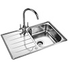 Rangemaster Michigan Compact 800 x 508mm Stainless Steel 1.0B Inset Sink small Image 4