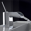Crosswater Love Me Single Lever Monobloc Basin Mixer Tap Chrome small Image 4