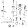Triton Eden Chrome Bar Mixer Shower And Kit
