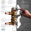 Crosswater Dial 1 Control Valve With Pier Trim Shower Kit small Image 4