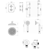Saneux Cromwell Thermostatic Shower Kit With Slider Rail small Image 4